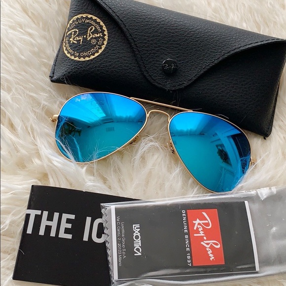e39625469 Ray-Ban Accessories | Ray Ban Blue Flash Aviators | Poshmark